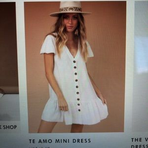Te Amo Dress - off white, from Princess Polly